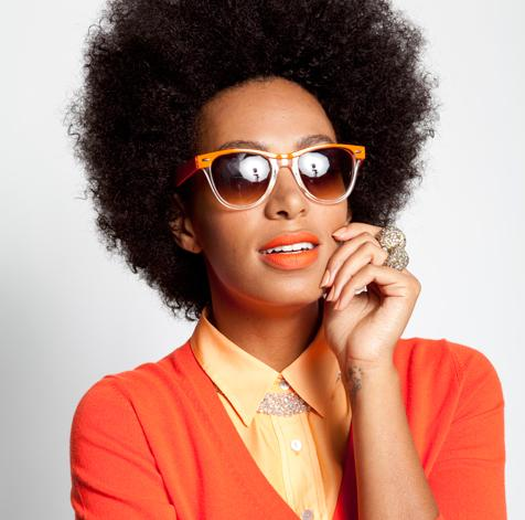 Solange Knowles Natural Hair Styles