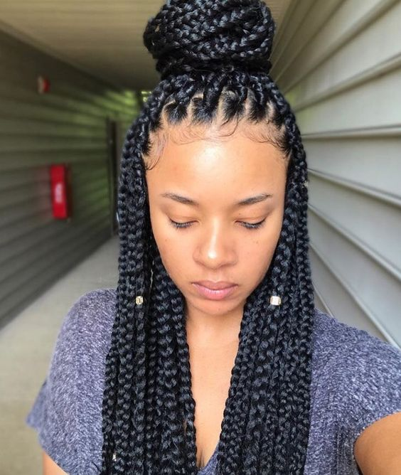 Braided Hairstyles 5 Ideas For Your Wedding Look: 5 Box Braid Partings You Need To See