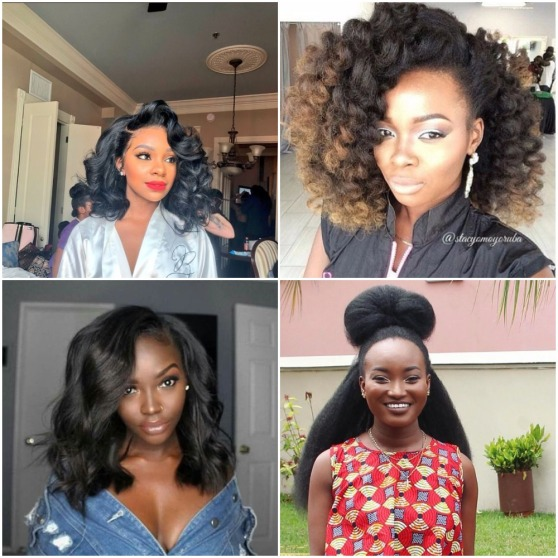 4 different hairstyles for black women